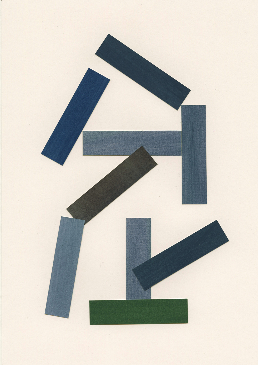Liam Stevens    Rectilinear Form No.3 (Build)  Gouache on paper, 21 x 29.7cm,2014 Framed: 28.5 x 37cm £490   Enquire