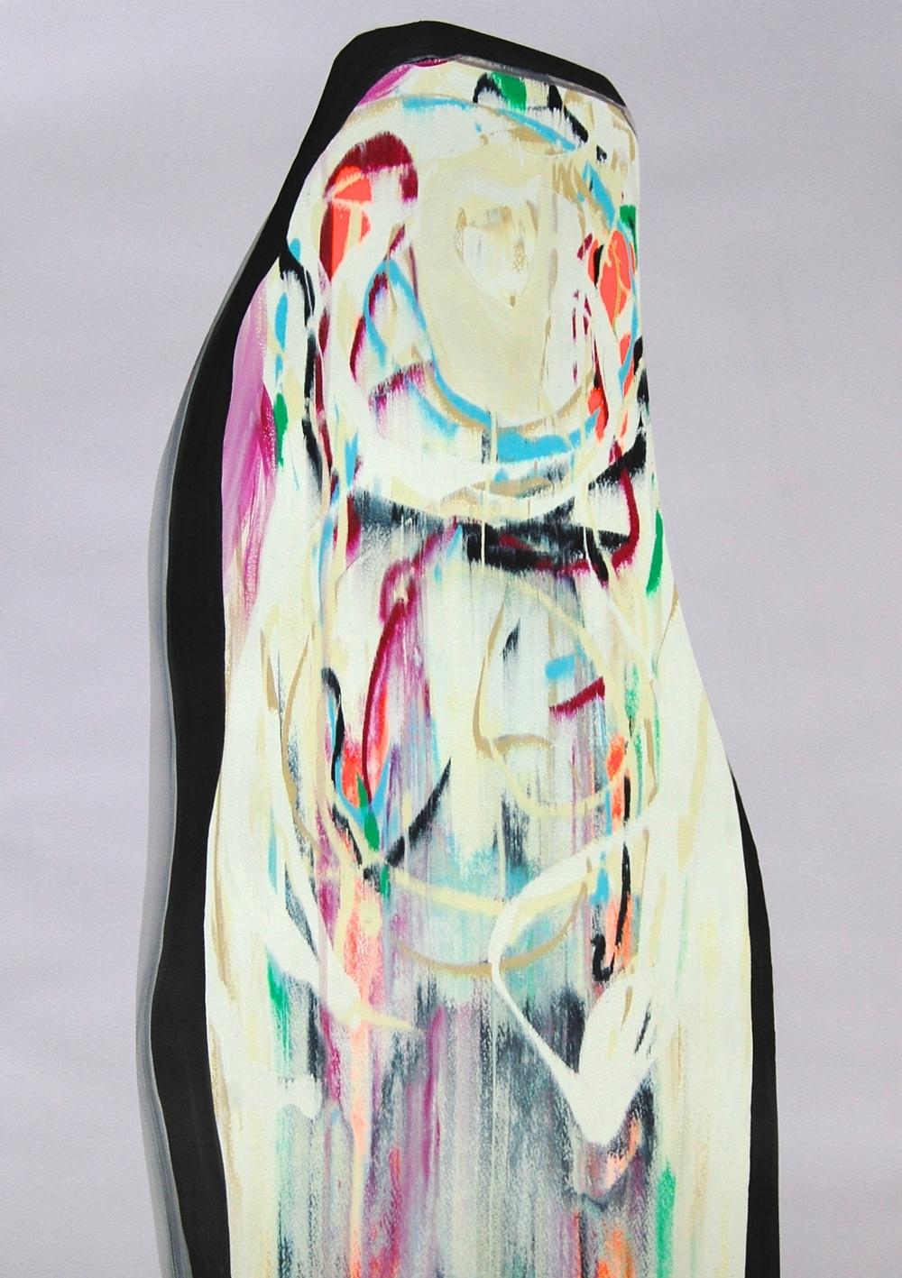 Lee Knott Kokomo 70 x 50 cms acrylic on paper £950   Enquire