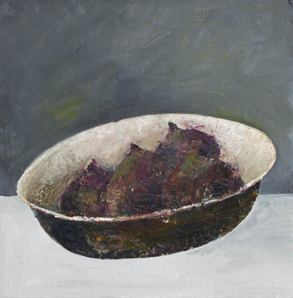 Marilyn Browning  Dish of Figs 30 x 30 cm oil on canvas £ 750   Enquire