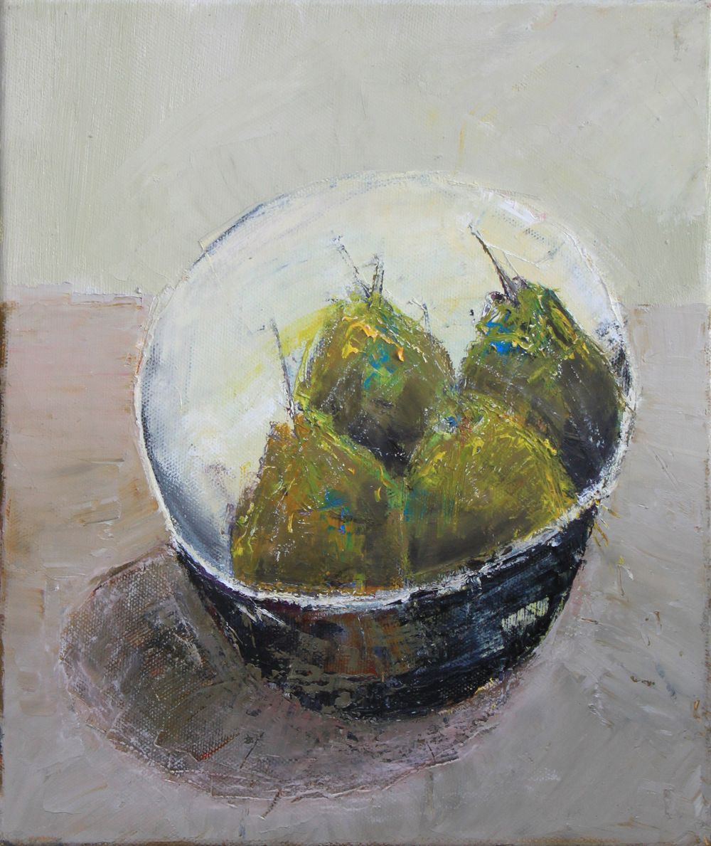 Marilyn Browning  Pear Bowl 25 x 30 cm oil on canvas £ 650   Enquire