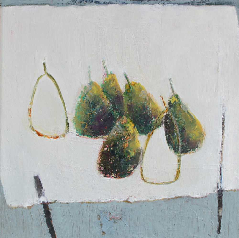 Marilyn Browning   Seven Pears 30 x 30 cm oil on canvas £ 750   Enquire