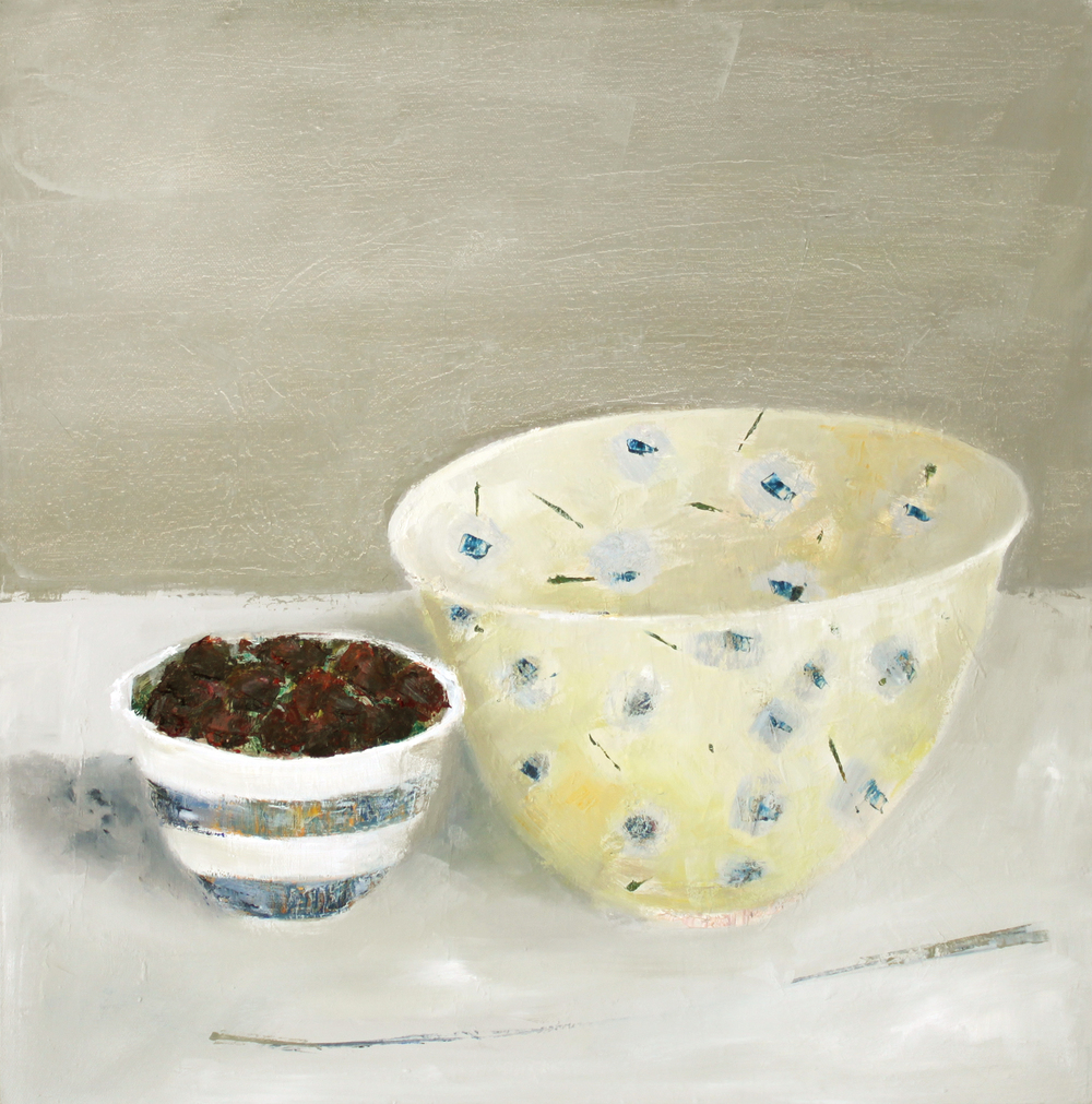 Marilyn Browning   Two Bowls 50 x 50 cm oil on canvas £ 1400   Enquire