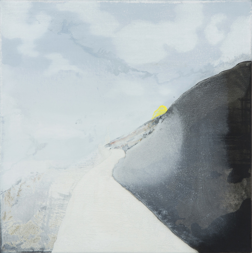 Kerry Harding   Steep Yellow 50 x 50 cm  oil on canvas  £ 1,500    Enquire