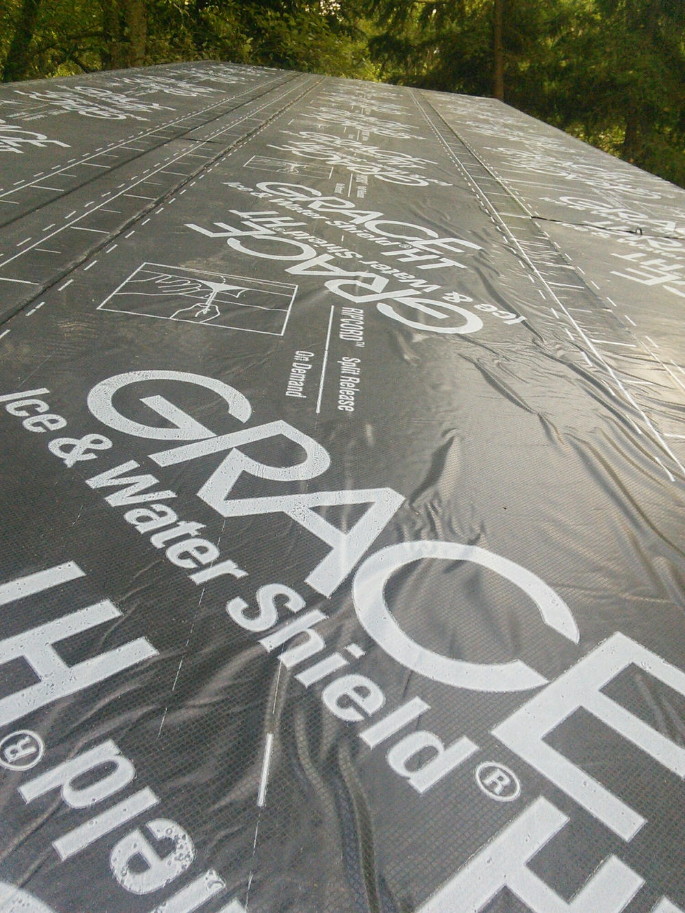 Our roof underlayment.