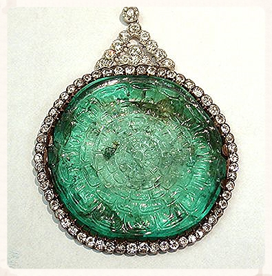 Mogul Emerald Necklace. From the Smithsonian Museum of Natural History.