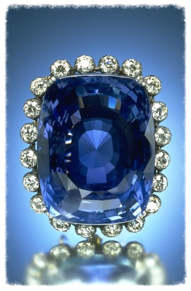 The Logan Sapphire.  Image from the Smithsonian NMNH.
