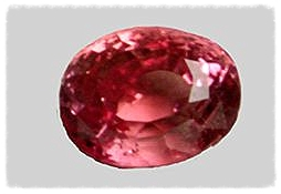 Padparadscha sapphire. Image from the Smithsonian Institution NMNH.