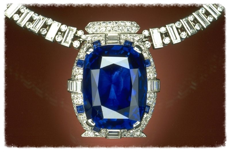 Consider a gift like the Bismarck Sapphire for your next 45th anniversary.  From the Smithsonian Institution.