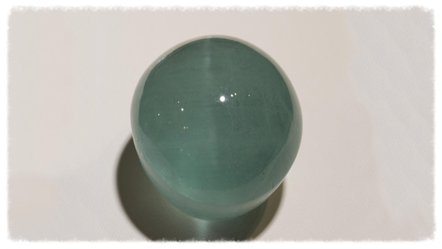 Once in a blue moon, an  aquamarine can show a cat's-eye effect. Image from the Gemological Institute of America -- courtesy Facet Gems Co., Ltd.