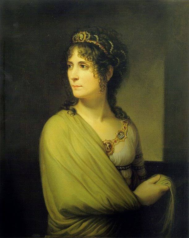 Empress Josephine wearing cameos.