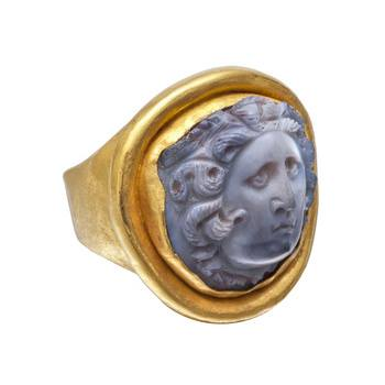 Medusa cameo ring. Betteridge Collection.