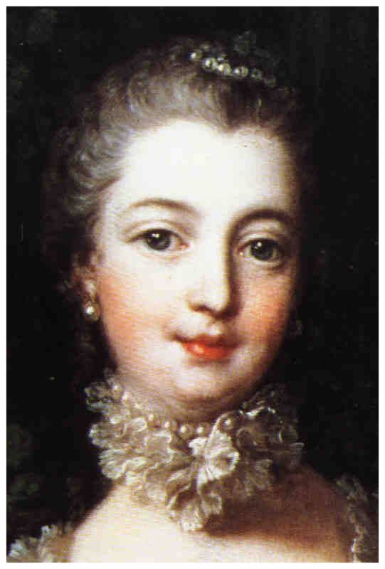 Beloved by history, Madame Pompadour and her smile.