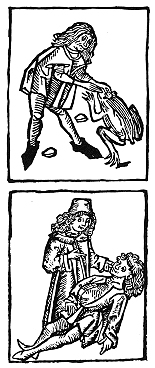 A 1497 illustration by Johannes de Cuba, depicting the extraction and use of a toadstone.