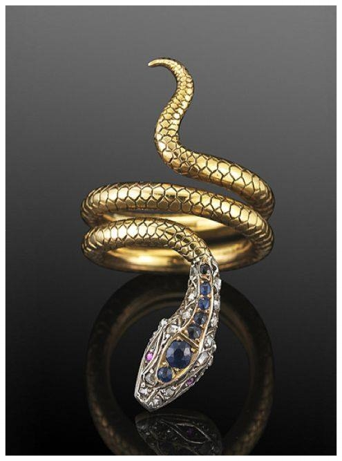 Victorian snake ring