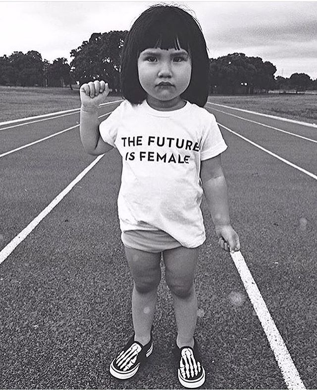 The future is female....And we are black, white, brown, LGBTQI, young & old. We are a mother fucking rainbow and we are a divine force for good in the world. Keep lifting up your sisters and men keep being our allies 💓#internationalwomensday Scroll through the comments for some of the back story of this Tshirt incase you are living blissfully unaware and throwing ignorant judgements about wildly. X much love.