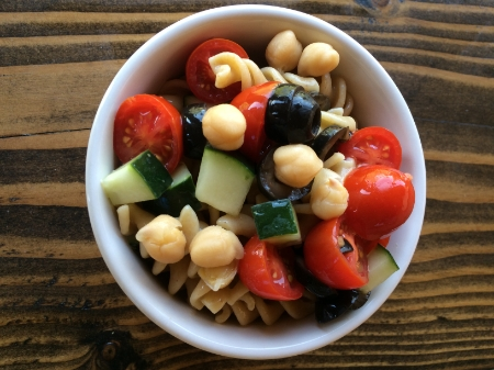 Trifecta of Fullness Pasta Salad