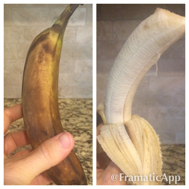 Would you eat a banana with a peel like this? What if it looked like this inside?!?!