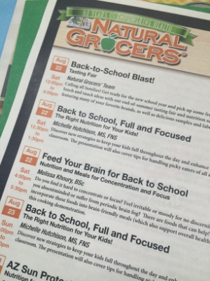 Lots of great events- check out my seminar Back to School, Full and Focused!