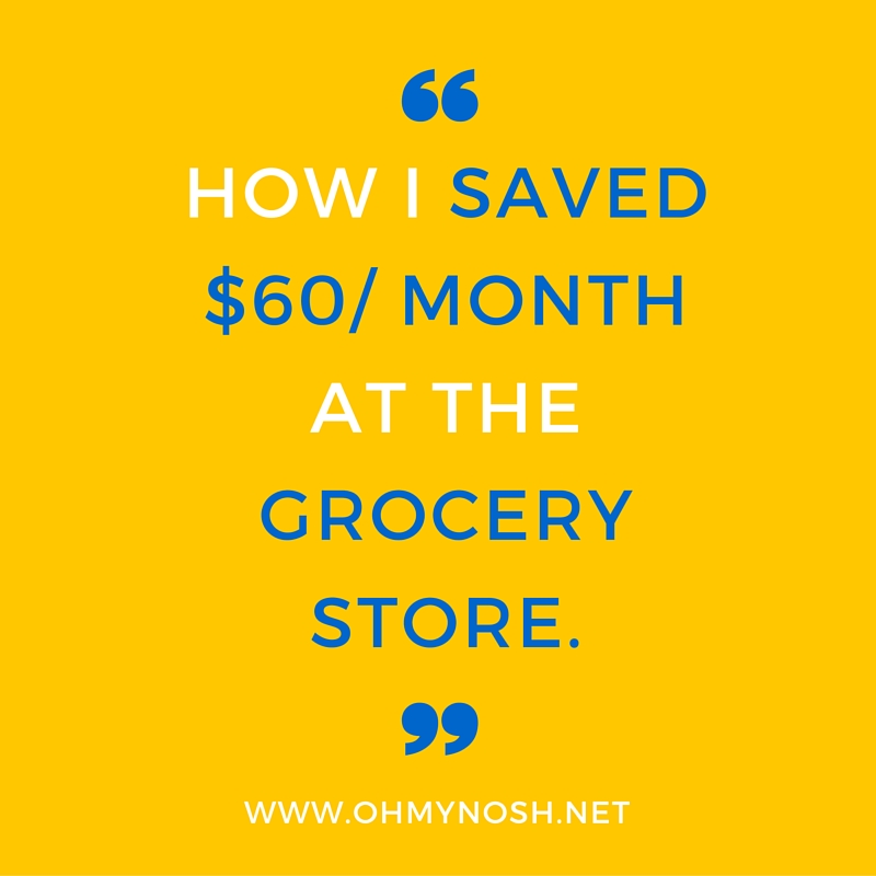 How I Saved $60/Month at the Grocery Store- And You Can Too