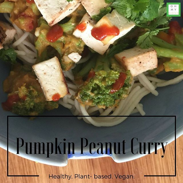 Today's blog post features this super easy, delicious Pumpkin Peanut Curry. #vegan #vegetarian #plantbased #dinner #recipes #fitmom #fitness #healthy #healthyfood #nutrition #wellness