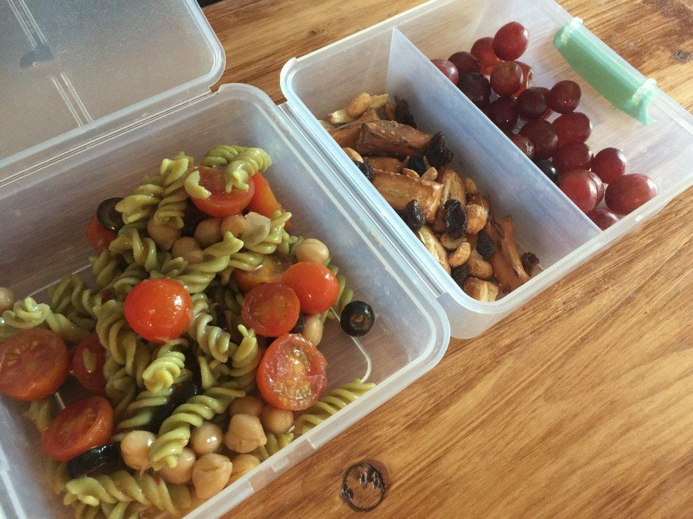easy school lunch pasta salad