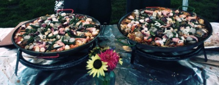 Two pans of this delicious paella were made to feed the crowds attending the SquareOne Villages Paella Fest 2015 at Sweet Cheeks Winery.