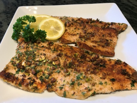Pistachio Encrusted Trout is Ready in Less than 15 Minutes