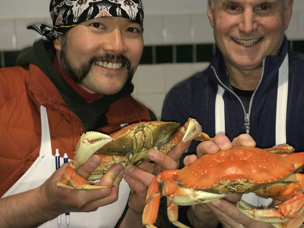 Stephen and Rod are thankful the Oregon Dungeness season is open!