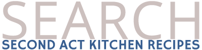 second act kitchen recipes