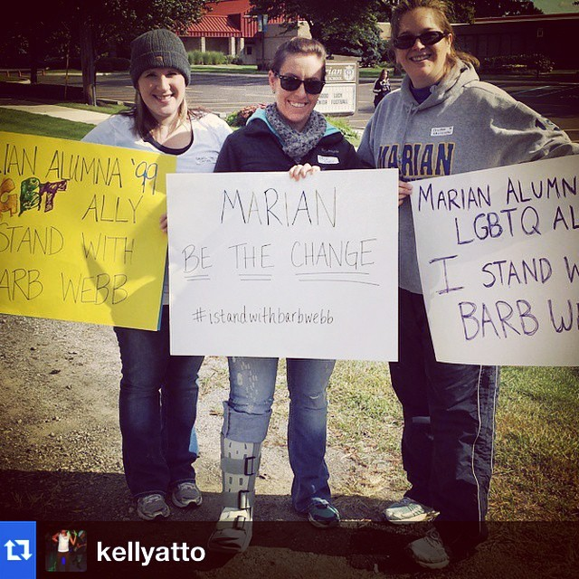Love all the photos from alums today! We really rallied together! #istandwithbarbwebb #marianbethechange