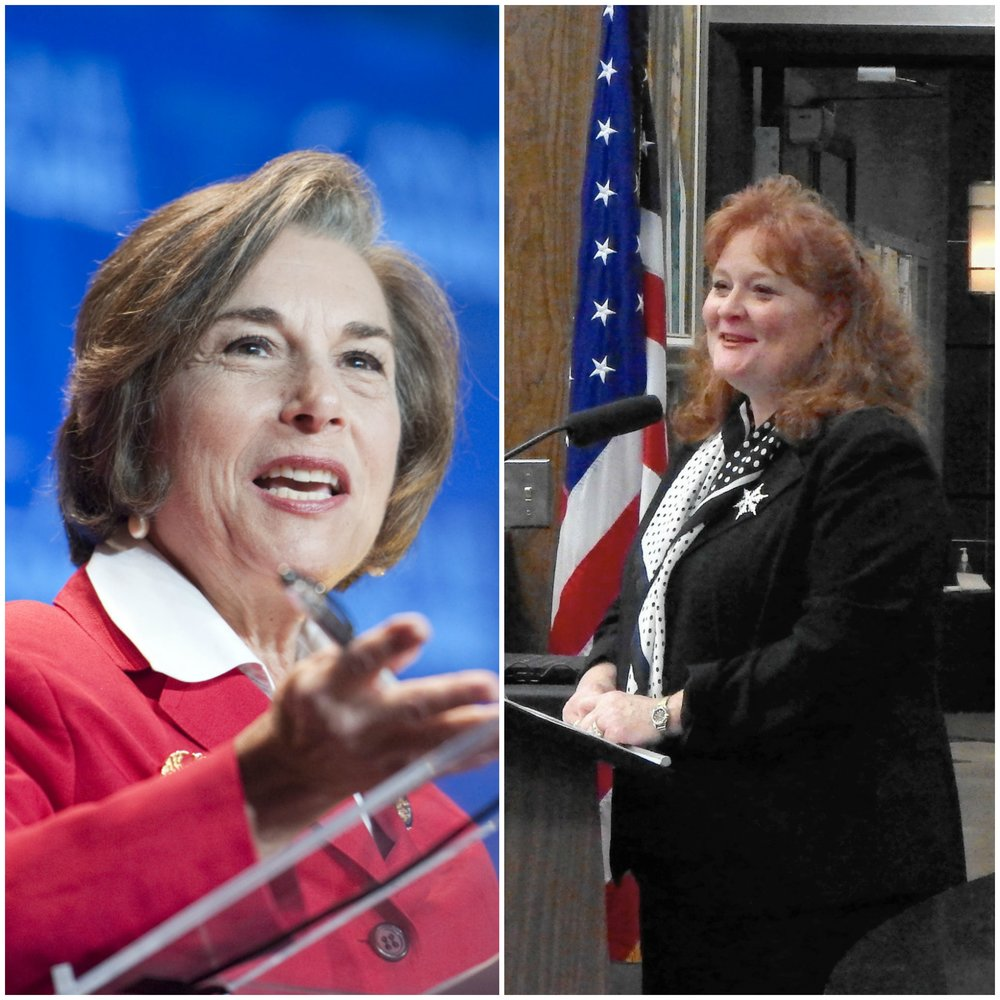 United States Congresswoman Jan Schakowsky (left) and Illinois State Senator Laura Murphy (right).