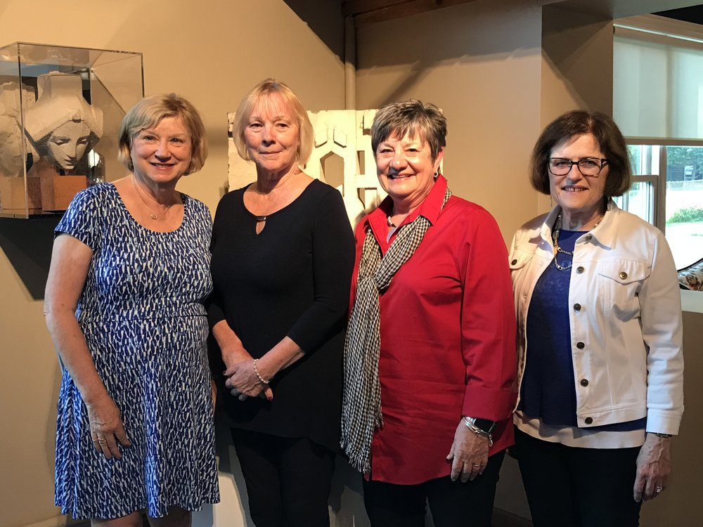 L-R: Susan James, President, 20th Century Club of Park Ridge; Pam Benitez, President, Park Ridge Civic Orchestra; Liz Greenhill, Benefit Chair, 20th Century Club of Park Ridge; Catherine Balentine Mueller, Vice President, Park Ridge Civic Orchestra.