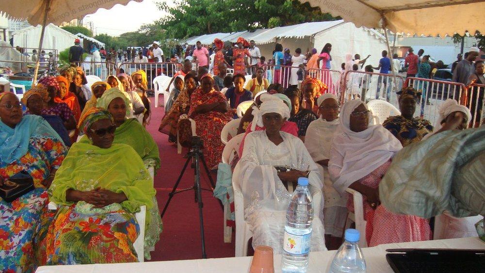 Une vue du public, pour le pluspartdes femmes.