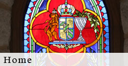 Custom Home, One of a kind space stained glass
