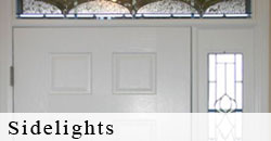 Sidelights: To the left or right of any door