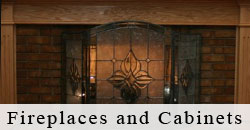 Fireplace/Cabinets: Sprucing up the old for something new