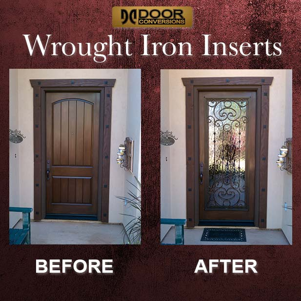 wrought-4.jpg & Door Conversion \u2014 The Glass Master |