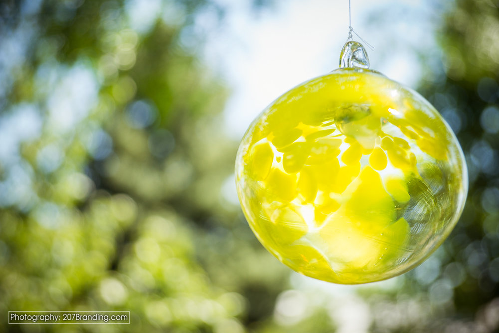 Denver Stained Glass Yellow Ball