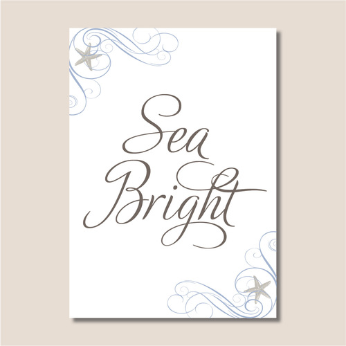 5x7 custom table name cards thinking paper wedding invitations and