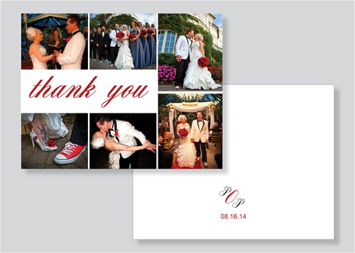 wedding collage thank you cards thinking paper wedding invitations