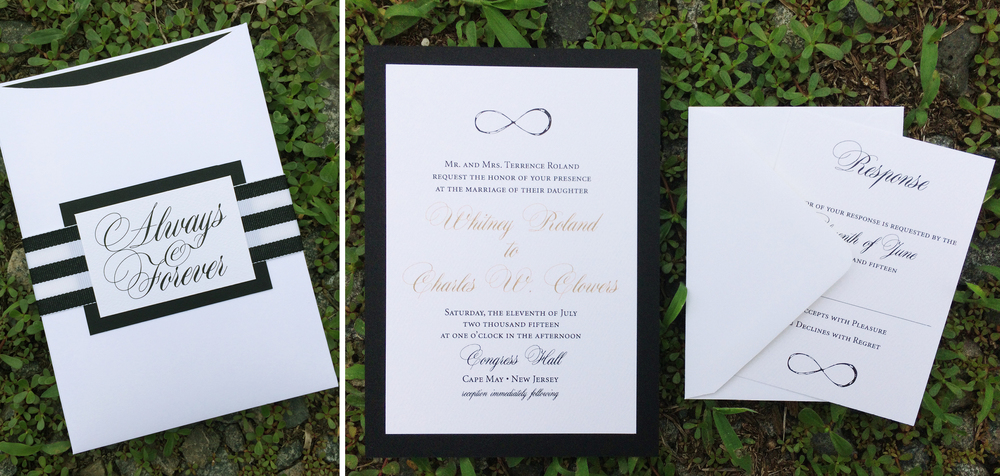 Always & Forever Invitation Design. Customization is available.