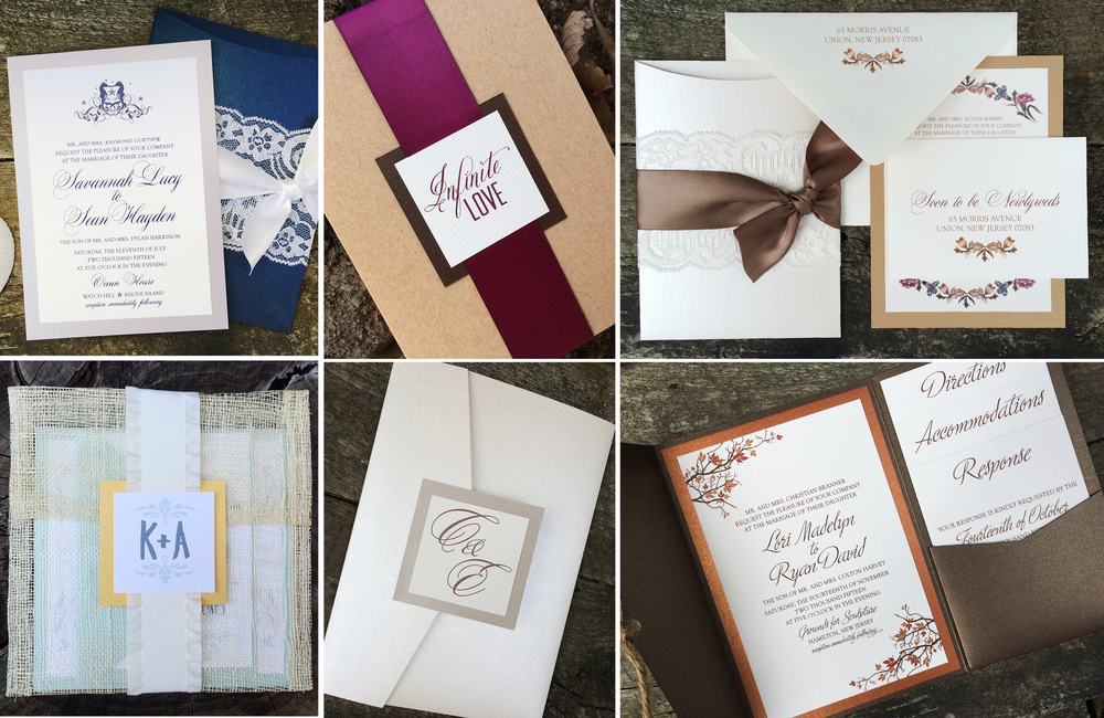 Choose aninvitation design to work with in Step 1 and the overall invitationstyle (pocket, flat card) in Step 2 of Thinking Paper's process. Get Started NOW!