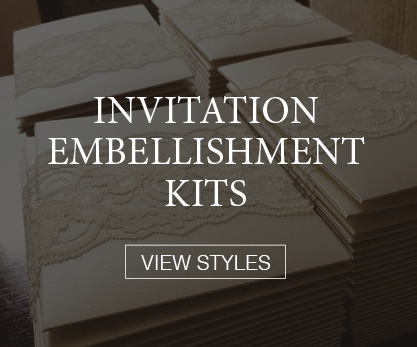 Invitation Accessory Kits: Laser Cuts, Pocket Ensembles, Mattes, Lace, and more. Customize any kit to match the coloring of your invitation and wedding style. Dress up your invitation prints!