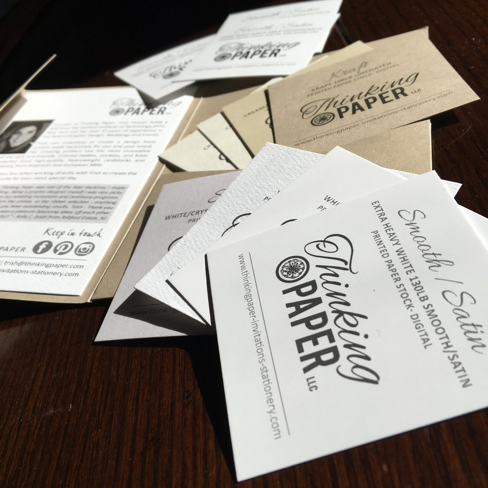 Get a feel for paper quality. - A virtual image can never compare to the real thing. Order your paper sample kit today.