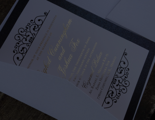 thinking paper wedding invitations and designs