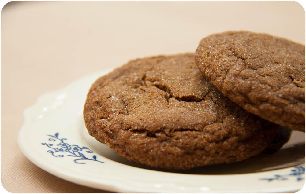 orange + ginger molasses cookies