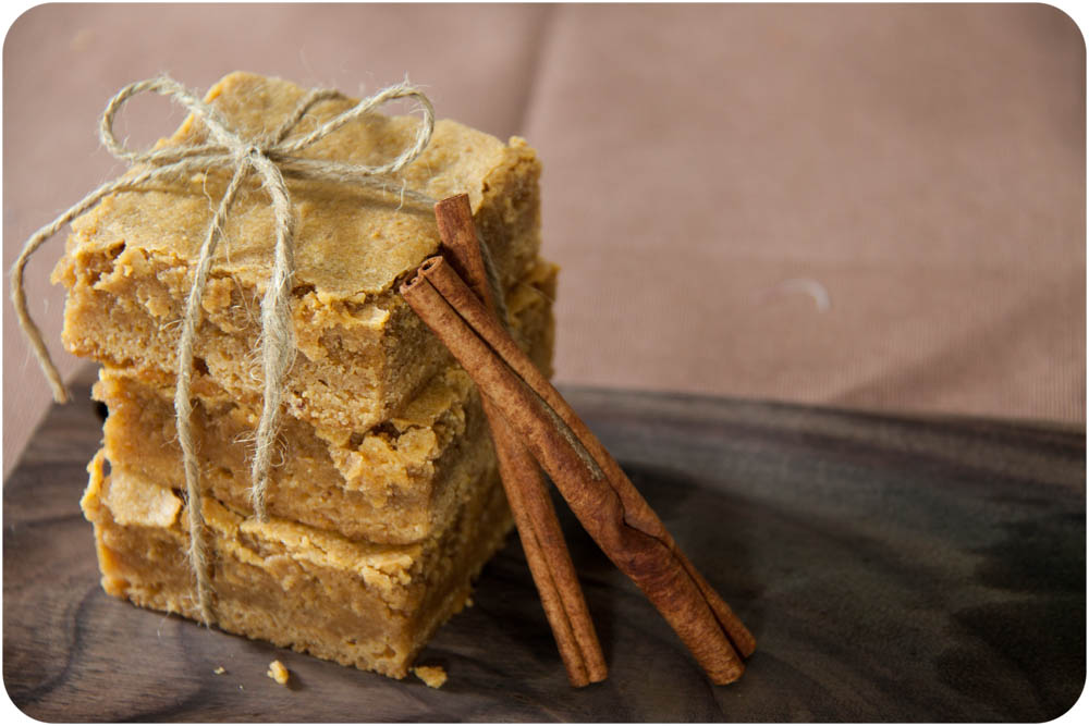 pumpkin spice blondies