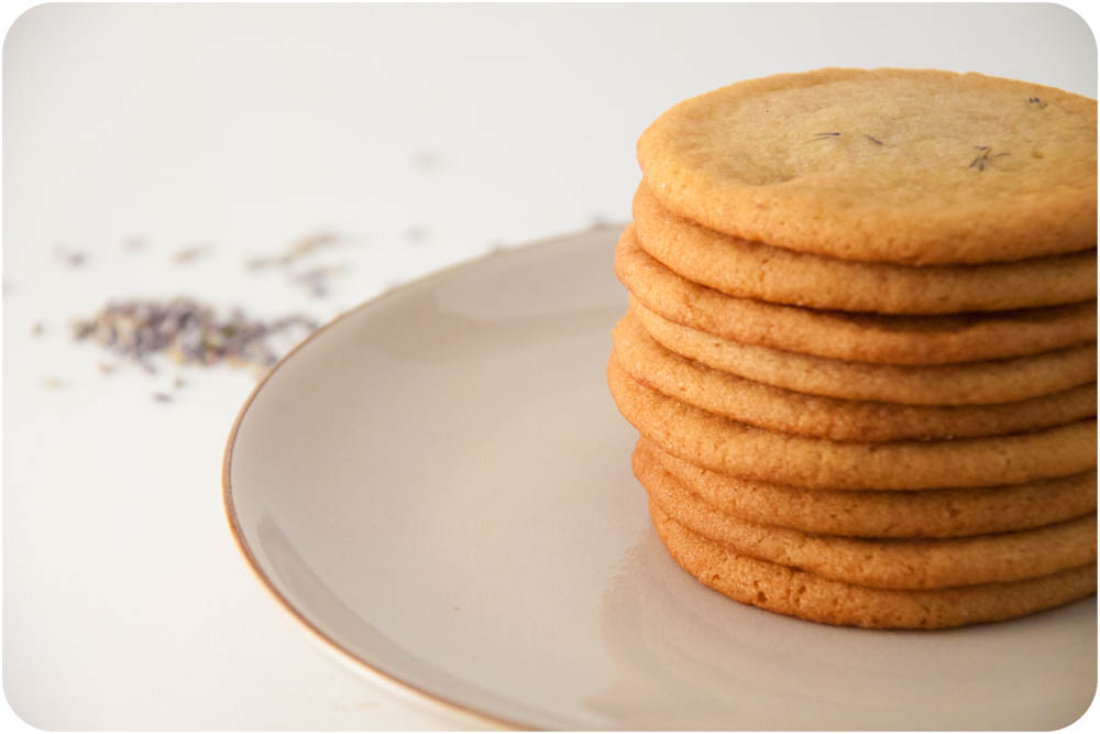 lavender + honey sugar cookies