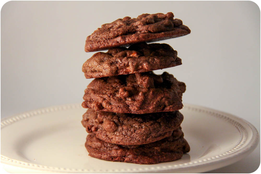 pretzel chocolate chocolate chip cookies