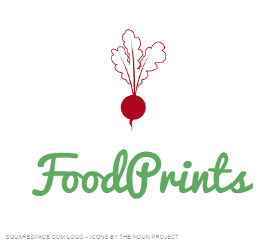 logo for FARMFRESH FoodPrints Program